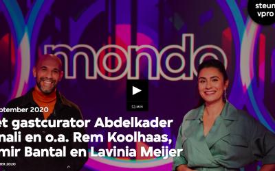 Gastcurator Abdelkader Benali in VPRO Mondo: Lamia Makaddam en Lavinia Meijer