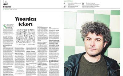 Groot interview in de Volkskrant over 'Gemeente zegt ik Nederlands leren'